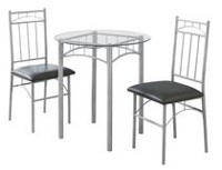 Monarch Specialties Silver Metal Dining Set