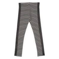 George Girls' Striped Leggings XS