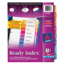 Avery® Ready Index® Table of Contents Dividers 11133, 8-Tab Set