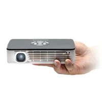 AAXA P700 Pro HD LED Pico Projector, 70 Min Battery, WiFi/Bluetooth/3D Onboard, 650 Lumens, Black/White
