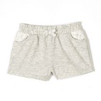 George baby Girls' Slub Jersey Shorts Grey 12-18 months