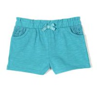 George baby Girls' Slub Jersey Shorts Green 0-3 months