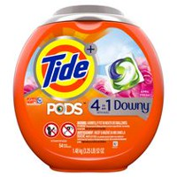 Capsules de détergent à lessive Tide PODS Plus Downy HE Turbo, April Fresh