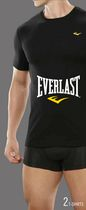 Everlast Men's T-Shirts, Pack of 2 L