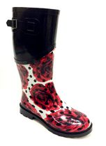 Weather Spirits Women's Rose Rubber Boots 8