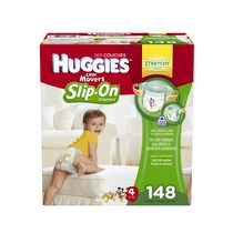 Couches Huggies Little Movers Slip-On* Econo Plus Taille 4