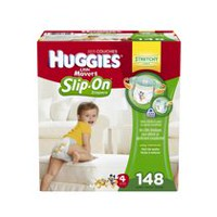 Huggies Little Movers Slip-On* Diapers Econo Plus Size 4