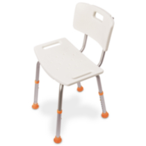 Profilio Adjustable Bath and Shower Chair with Non-Slip Seat and Backrest, White