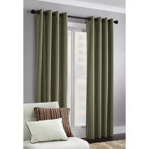 Faux Silk Thermal Window Panel Sauge