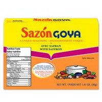 Sazon Goya Unique Seasoning with Saffron