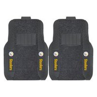 FanMats NFL Pittsburgh Steelers Deluxe Car Mat - Set of 2