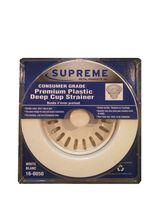 Supreme Metal Products White Consumer Grade Premium Plastic Deep Cup Strainer