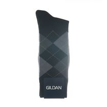 Gildan Men's Crew Socks Black 2