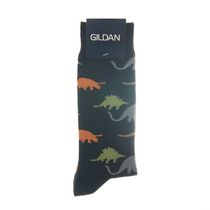 Gildan Men's Crew Socks Black/Grey