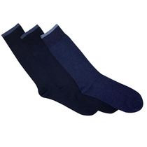 Gildan Men's Crew Socks, Pack of 3 Navy