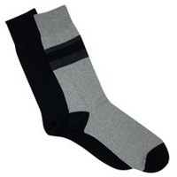 Gildan Men's Crew Socks, Pack of 2 Grey