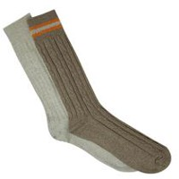 Gildan Men's Crew Socks, Pack of 2 Taupe