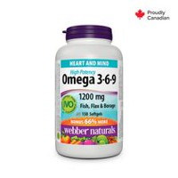 webber naturals Omega 3-6-9 High Potency, 1200 mg, 120 softgels