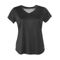 Athletic Works Women's Plus Size Performance Tee Black Soot 3X