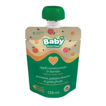 Baby Gourmet Pommes, patates douces et petits fruits aliments biologiques pour bébés