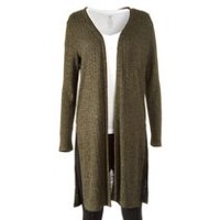 George Women's Long Open Cardigan Green XS