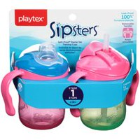 Playtex Baby Sipsters Spill-Proof Removable Handle Training Cup