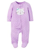 Child of Mine made by Carter's Newborn Girls' Sleep & Play Outfit - Cat 0-3 months