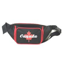 Aero Polyester Canada Embroidery Maple Leaf Waist Bag