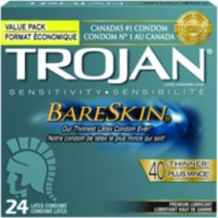 Trojan® Bareskin® Premium Lubricant Latex Value Pack Condoms