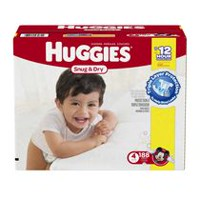 Huggies Snug & Dry Diapers Economy Plus Size 4