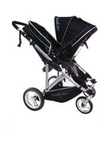 Poussette double My Duo Double de StrollAir Noir