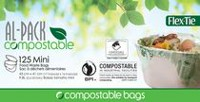 AL-PACK Sacs Mini Compostable Flex Tie