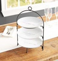 hometrends 3 Tier Round Serving Set with Rack