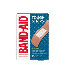 Band-Aid Brand Tough-Strips Adhesive Bandages for Wound Care, Heavy duty Protection for Minor Cuts and Scrapes, All One Size, 20 ct