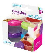 Sistema to Go Dressing Food Storage Containers
