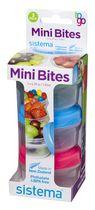 Rubbermaid Sistema Small Mini Bites Snack Containers, 3 Count