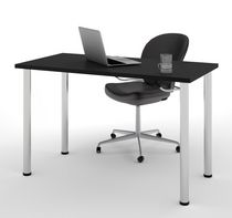 """Bestar 24"""" X 48"""" Table with Round Metal Legs"""