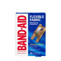 BAND-AID® Brand Flexible Fabric Knuckle and Fingertip Adhesive Bandages, Assorted Sizes, 20 Count