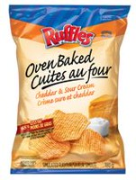 Ruffles Oven Baked Cheddar & Sour Cream Potato Chips