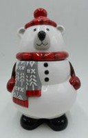 Holiday Time Polar Bear Cookie Jar