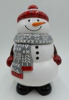 Holiday Time Snowman Cookie Jar