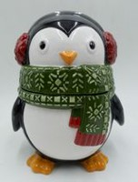 Holiday time Penguin Cookie jar