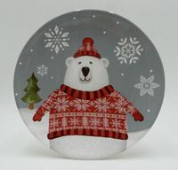 Holiday time Polar Appetizer Plate