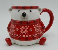 Holiday time Polar Bear Mug