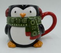 Holiday time Penguin Mug