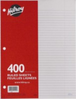 Hilroy Refill Paper Ruled, 400 sheets