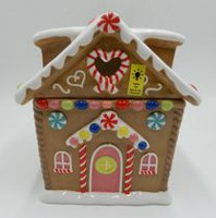 Holiday Time Gingerbread House LED Cookie Jar
