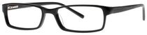 Buxton BX05 Men's Black Eyeglasses