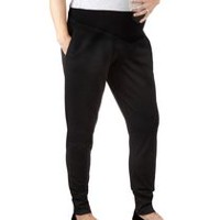 George Maternity French Terry Joggers Black L