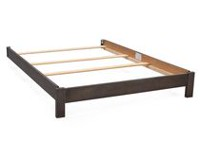 Serta Full Size Wood Bed Rails- Rustic Grey